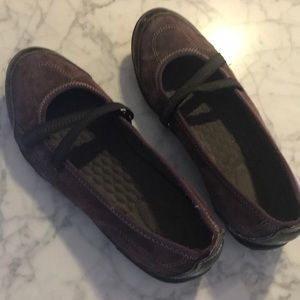 Clarks Privo Purple Slip On Shoes Size 8M